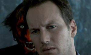 Look at Patrick Wilson photobombing Darth Maul...